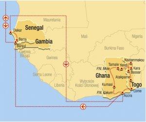 Ghana, Togo, Senegal, Gambia złote wybrzeże i królestwo magii